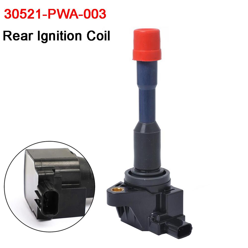 New Ignition Coil Rear for Honda Civic Hybrid Sedan 2003-2011 1.3L 30521-PWA-003