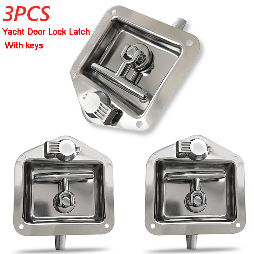 2 x RV Marine Boat Trailer Lock Entrance Door Toolbox Latch Stainless Steel