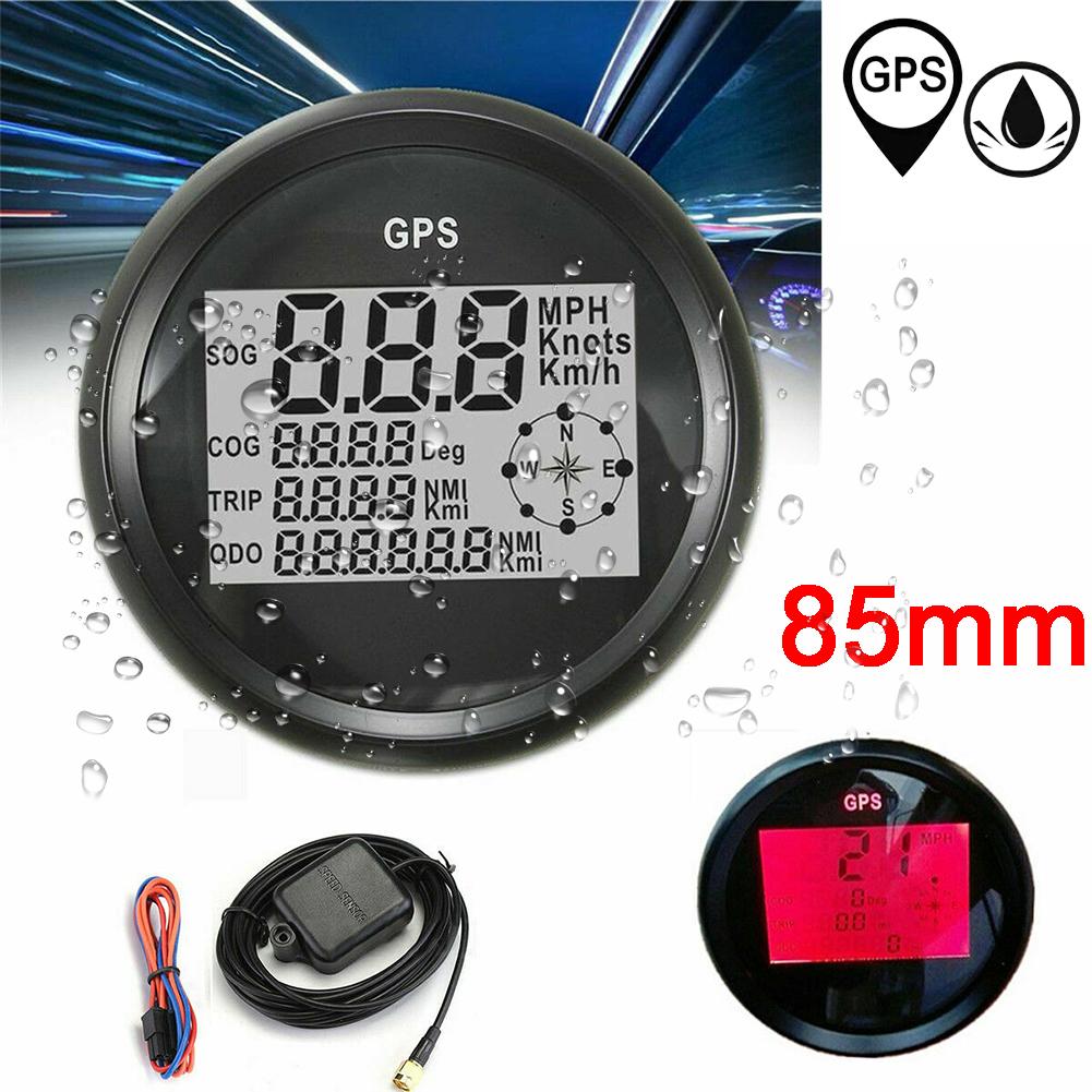 85mm Waterproof Digital Gps Speedometer Gauge Odometer For