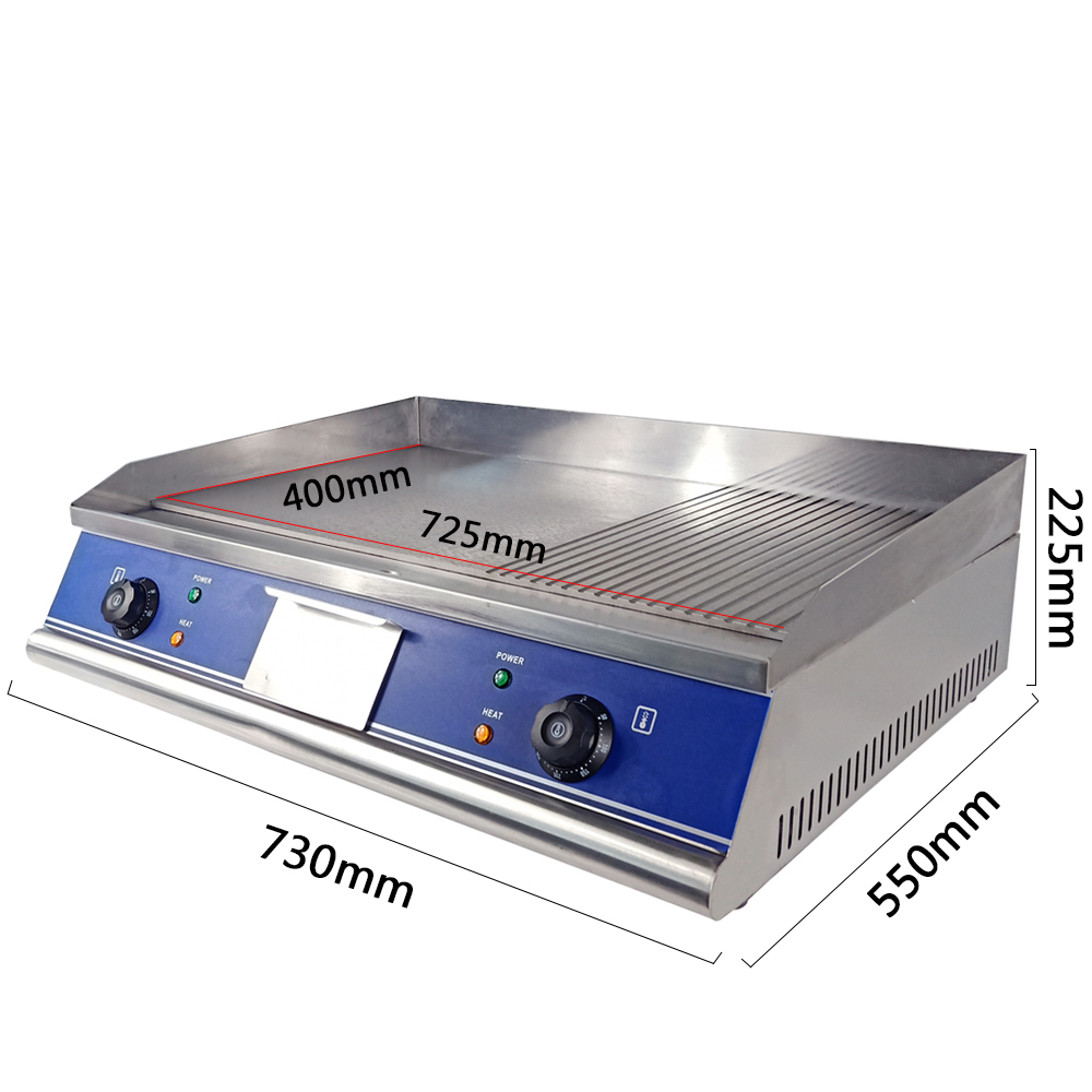 Messy Commercial Kitchen: Electric Griddle Flat & Groove Grill Commercial BBQ