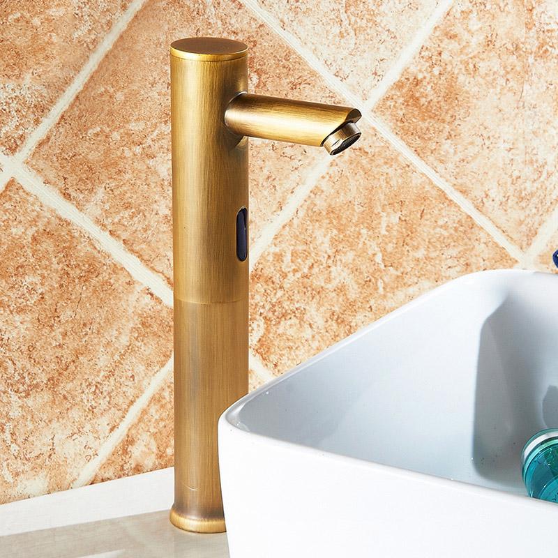 Automatic Sensor Mixer Touchless Electronic Brass Bathroom Vessel ...