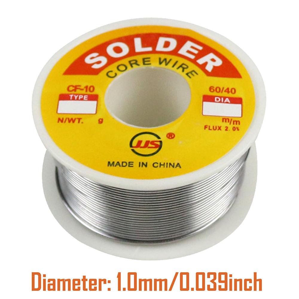 "60-40 Tin Lead Rosin Core Solder Wire Soldering Sn60 Pb40 Flux .039/""//1.0mm 50g"