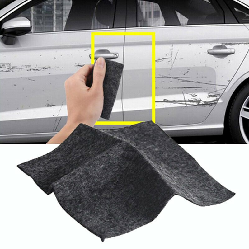 2PCS Nanomagic Cloth Car Scratch with Repair Fluid and Easy to Repair Small and Slight Scratched Car Paint Water Spots on Surface Nano Magic Cloth for Car Scratches Remover