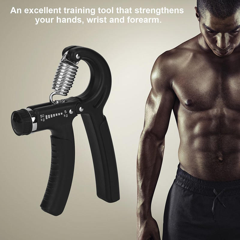 Spring Hand Grip Fitness Weight Lifting Forearm Muscle Training UK Seller