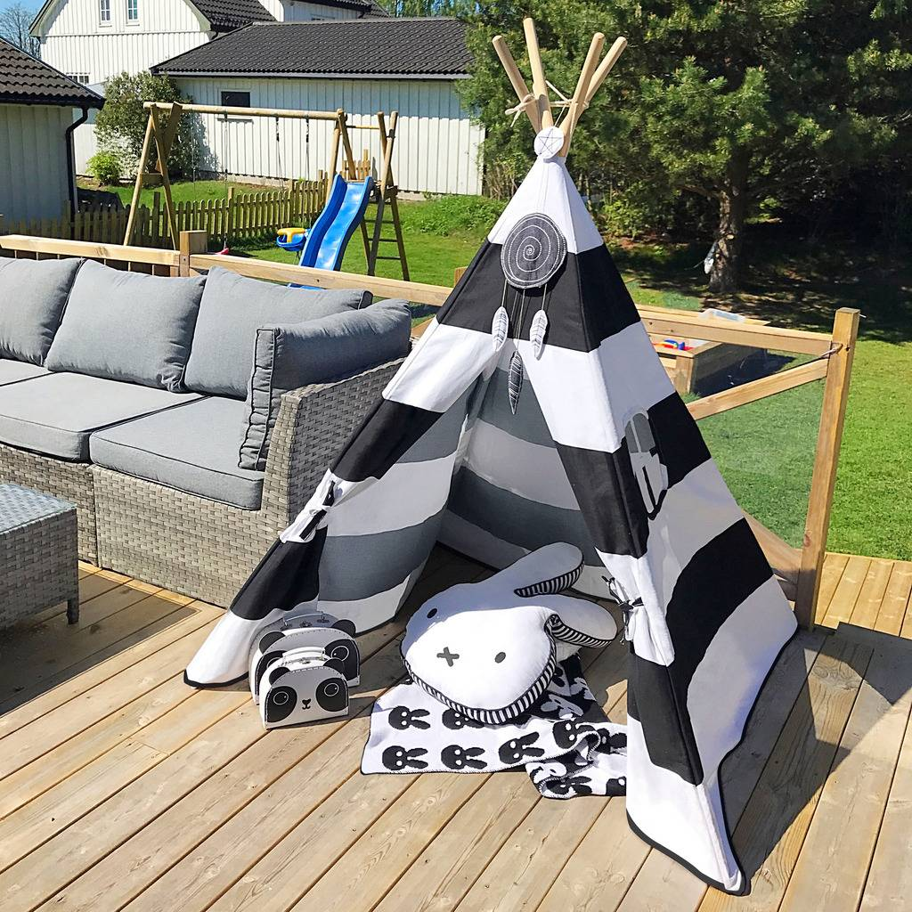Teepee-Kids-Play-Tent-Large-100-Cotton-Wigwam-Outdoor-Toy-Birthday-Gifts thumbnail 37