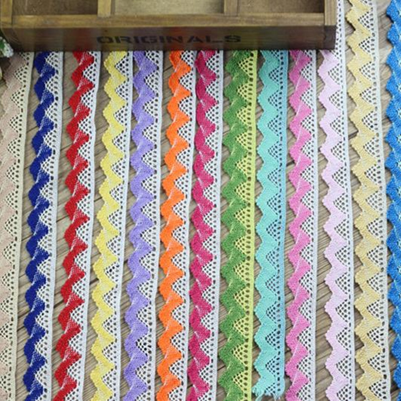 1-10 Yards Cotton Ribbon Lace Trim Wedding Bridal Crochet Ribbon Sewing Craft