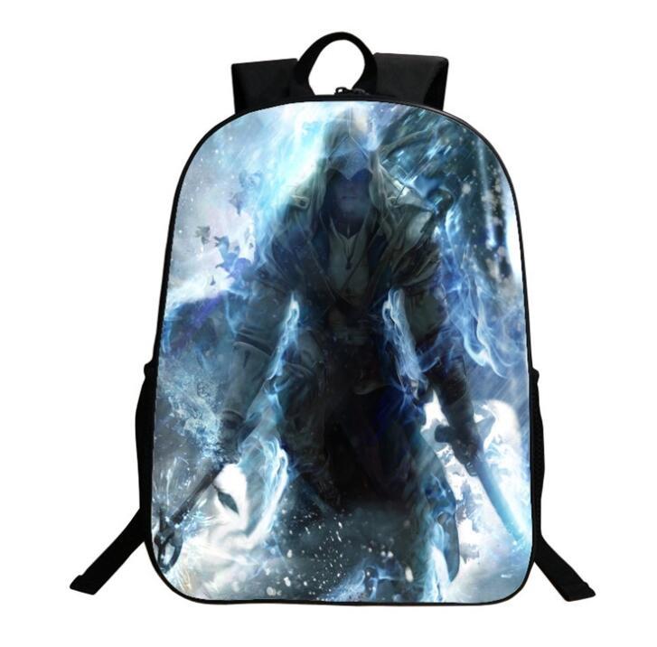 Assassin/'s Creed Backpack Boy School bag Girl Shoulders Student Bag Cosplay Gift