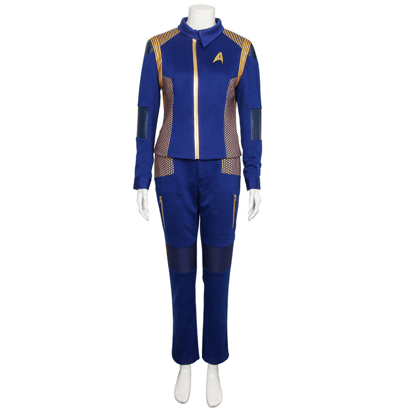 Star Trek Discovery Captain Georgiou Uniform Cosplay Costume Blue Command Suit