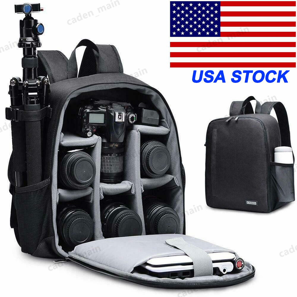 CADeN Professional Anti-Theft Waterproof Shockproof DSLR SLR Camera Backpack Bag Case Dividers Insert for Canon Nikon Sony Olympus Panasonic Pentax Kodak for Men with Tripod Holder