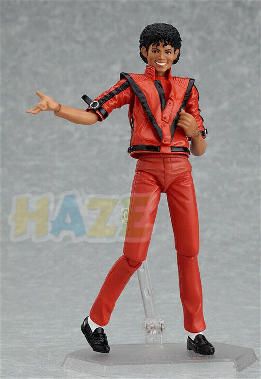 14cm PVC Action Figure Model Toy Figma 096 Michael Jackson MJ Thriller MV Ver