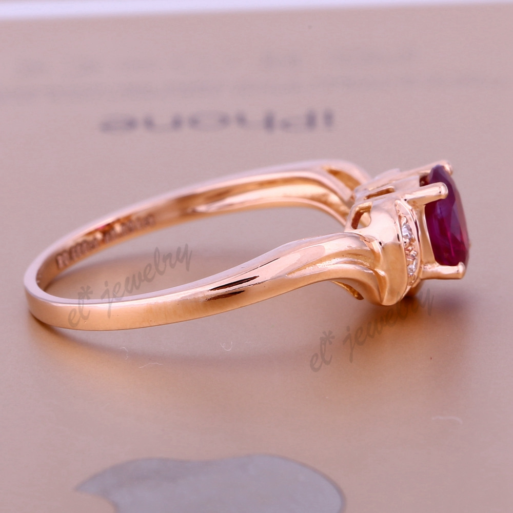 Natural Ruby Genuine Diamonds Solid 10k Rose Gold Engagement Wedding ...
