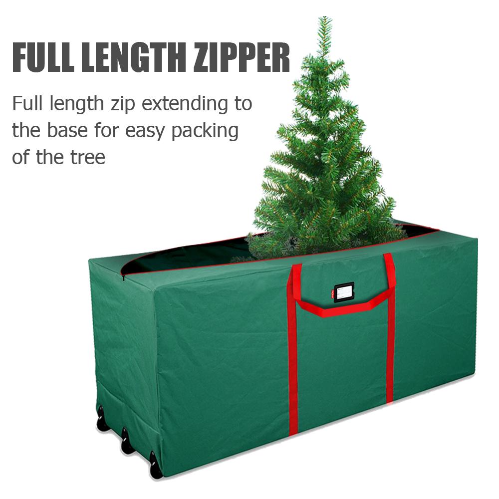 Large Heavy Duty Rolling Christmas Tree Storage Wheel Bag ...