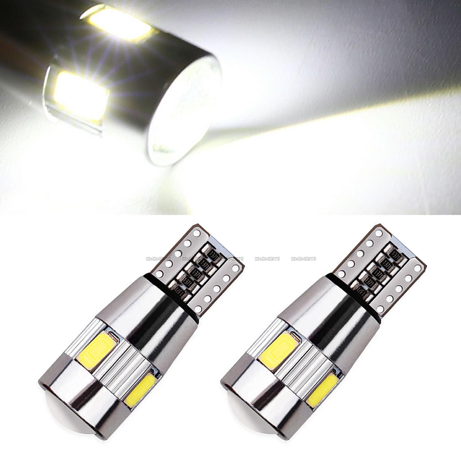 2x T10 168 194 W5W 6-LED 5630-SMD White Car Side Wedge Light Bulb 12V