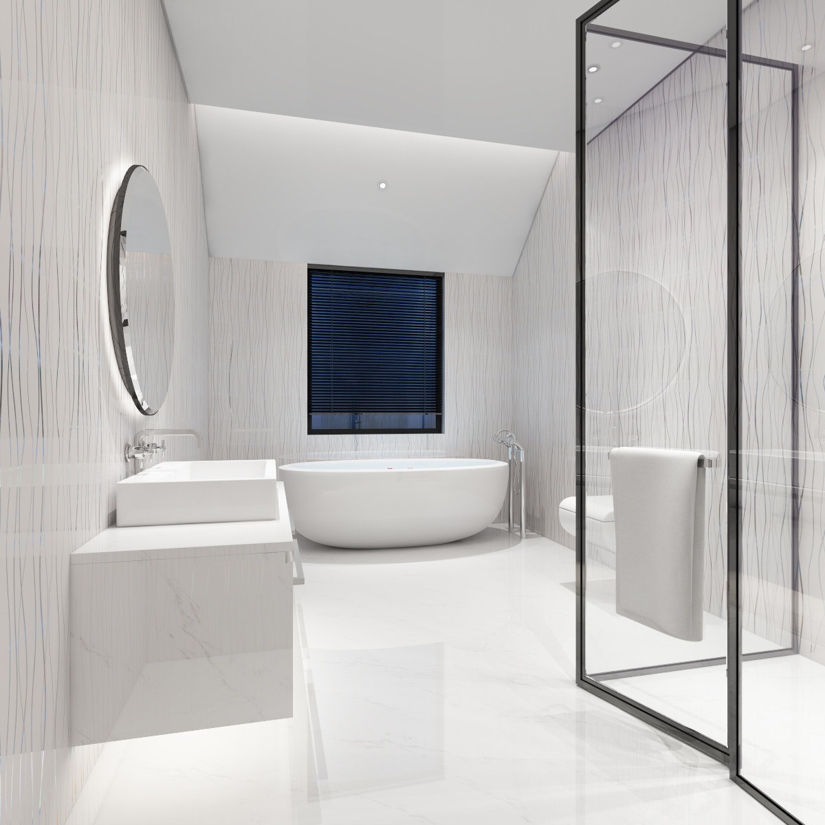 Water ripples PVC Bathroom Cladding Ceiling Panels Shower ...