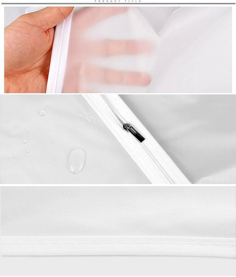 47b6a67a86a0 Widen Thicker Garment Suit Coat Dust Cover Protector Wardrobe Storage Bag