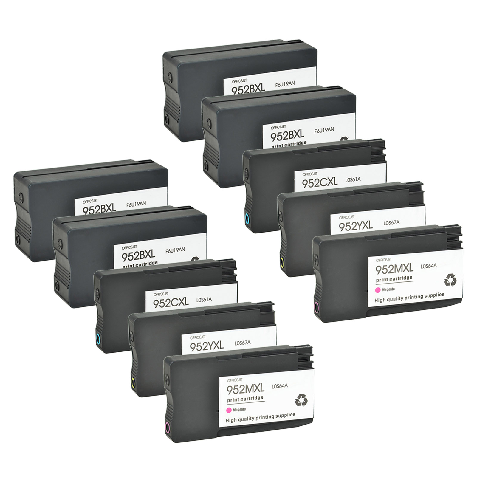 952XL Ink Cartridges For HP Officejet Pro 8210 8702 8714 8717 8718 10PK Reman