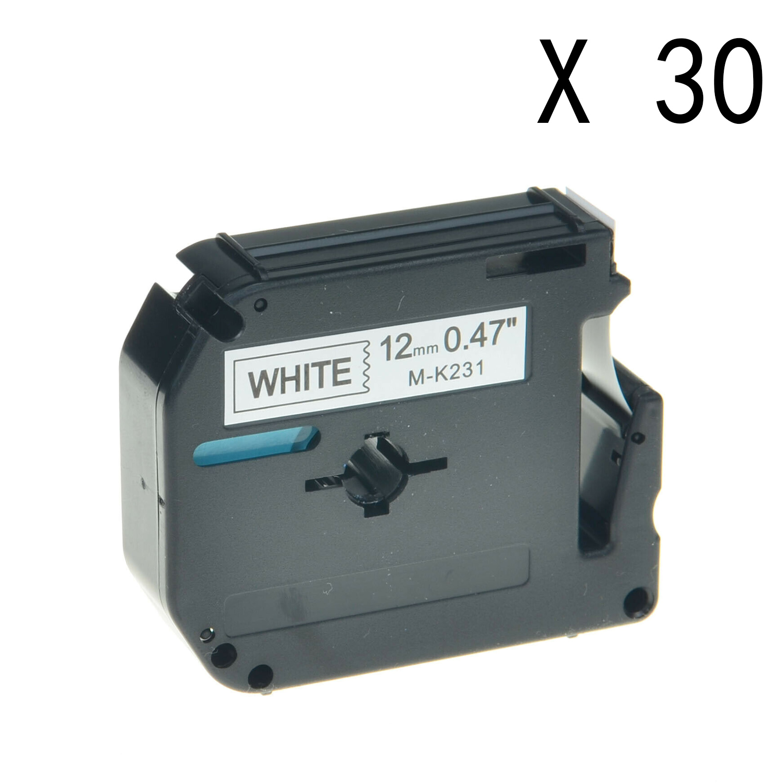 """5PK MK231 Black//White12mm0.47/"""" P-Touch Label Tape Compatible Brother PT65 PT85"""