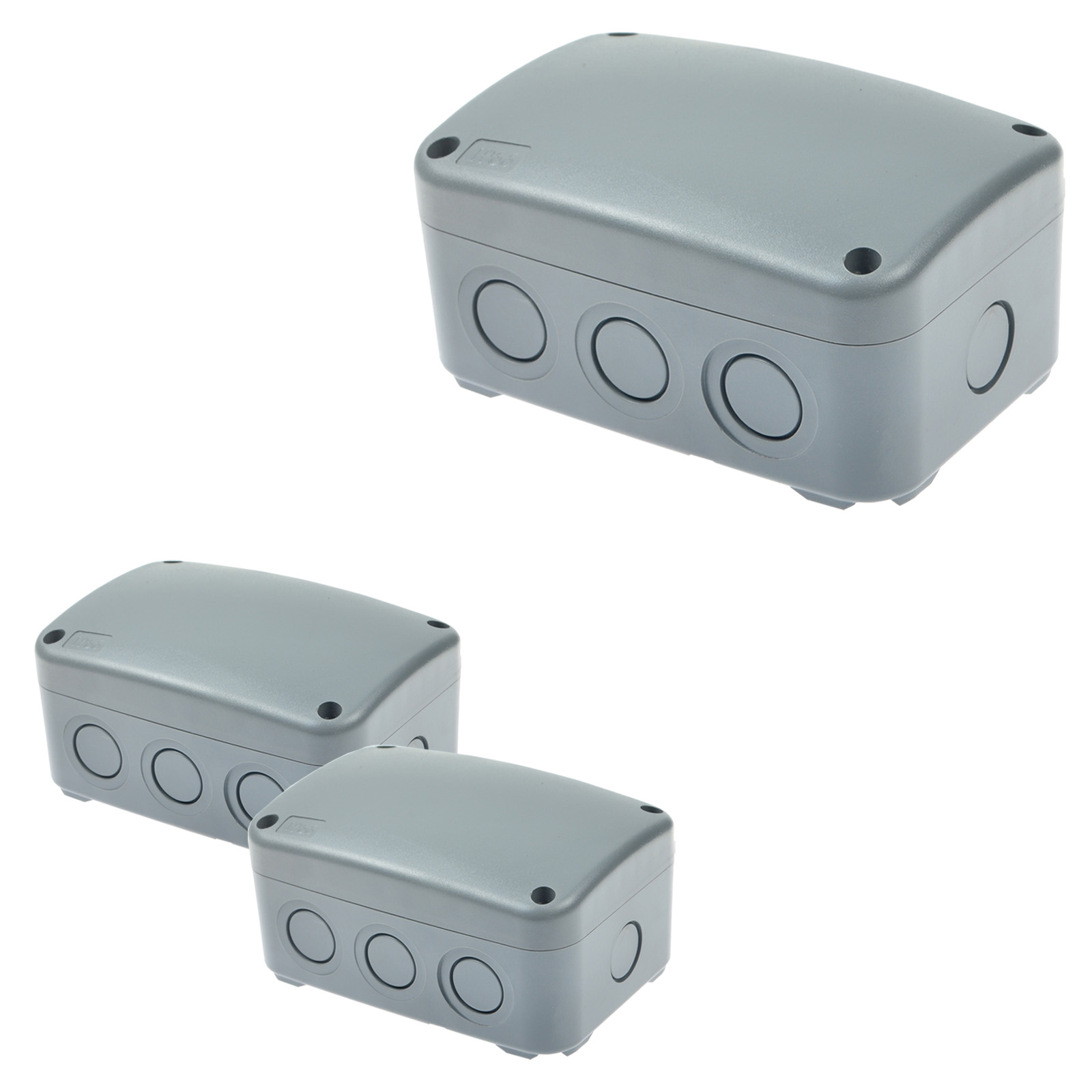 3 Pk Waterproof Junction Box Ip66 Cable Wire Protection Outdoor Wiring Weatherproof New