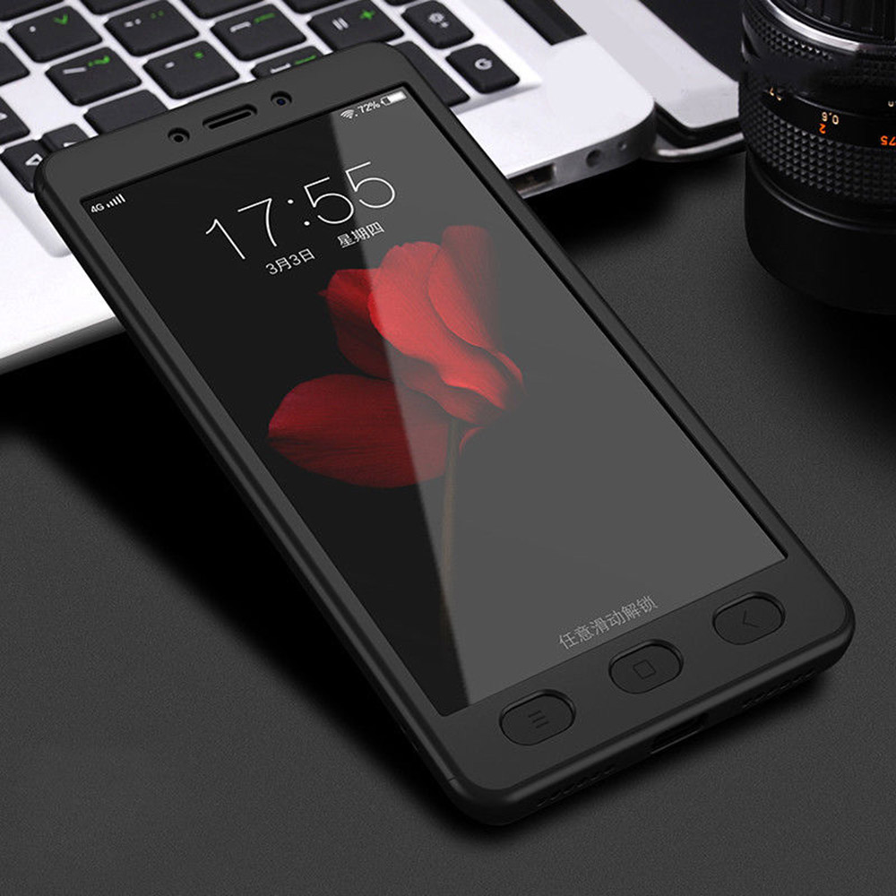 Case Xiaomi Redmi Note 4 Slim Armor Biru Dongker Free Iring Update Source · 360 Full Armor Hybrid Protecter Case Tempered Glass Cover For Xiaomi Redmi