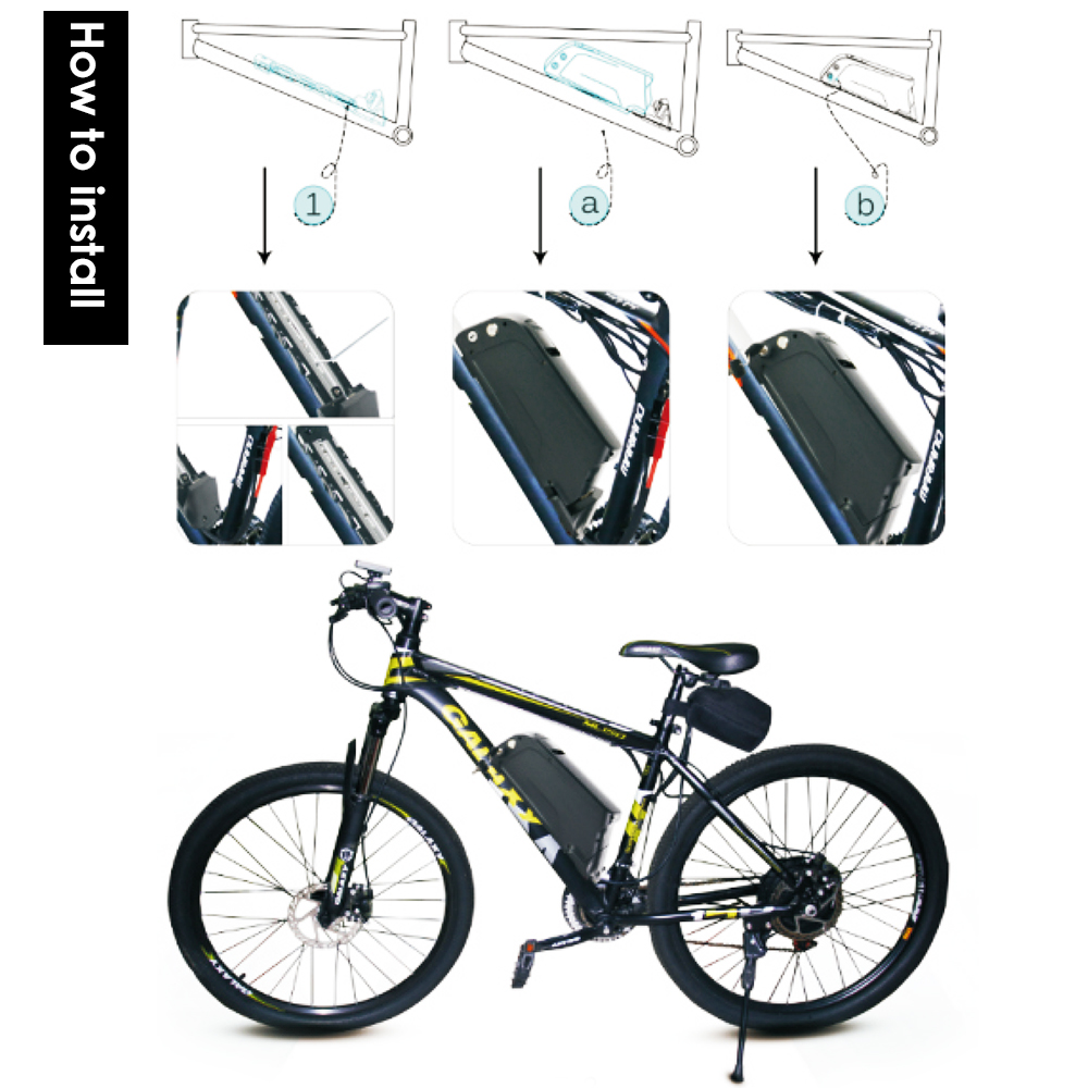 e bike pedelec akku 48v 10ah elektrofahrrad fahrrad li. Black Bedroom Furniture Sets. Home Design Ideas