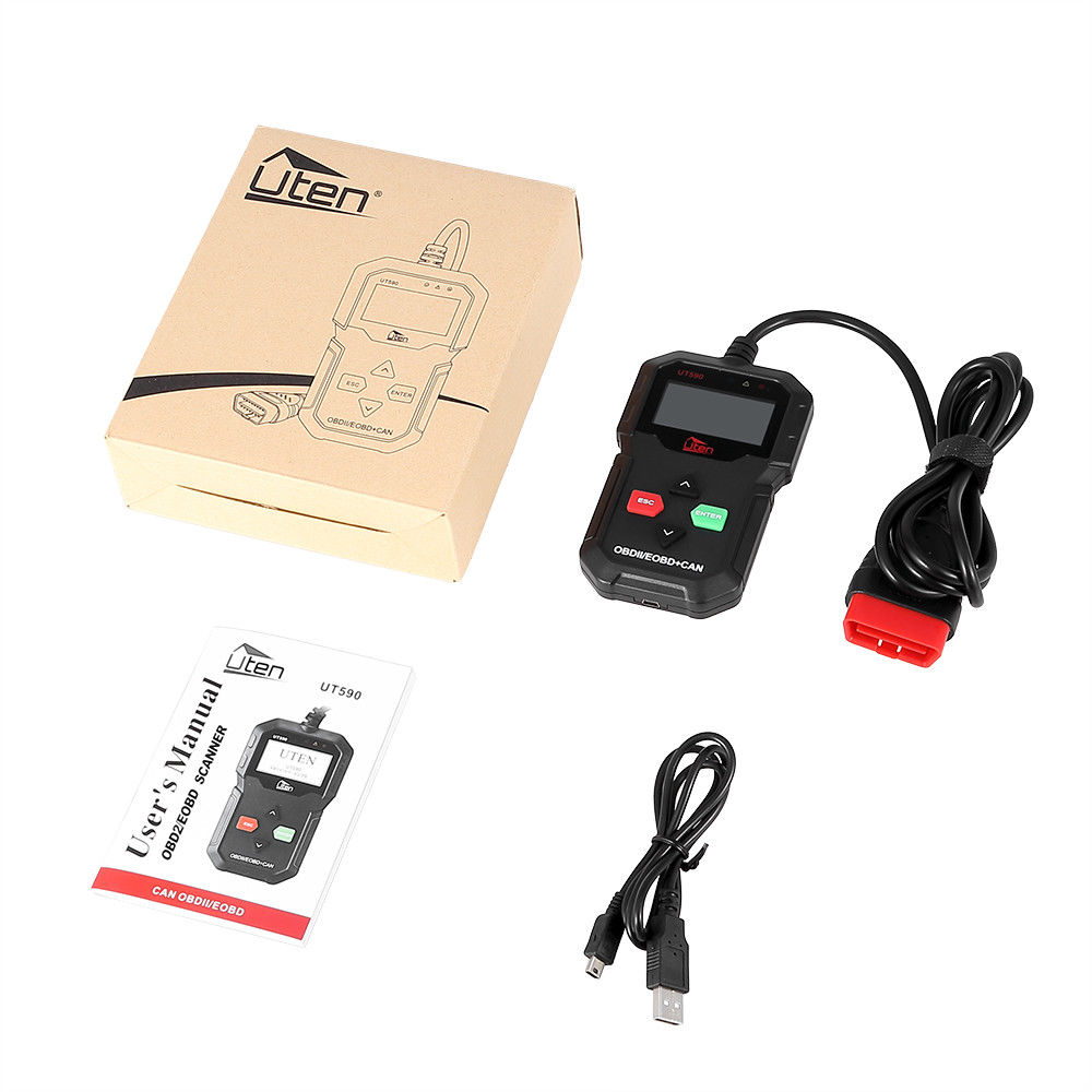 uten universal obdii obd diagnoseger t auto kfz can fehler. Black Bedroom Furniture Sets. Home Design Ideas