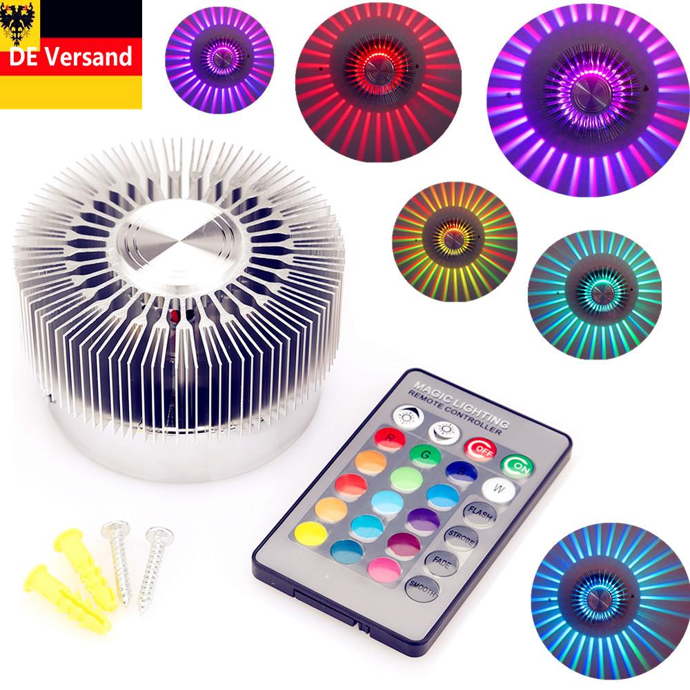 3w led wandlampe wandleuchte rgb effektlicht lampe deckenlampe mit fernbedienung ebay. Black Bedroom Furniture Sets. Home Design Ideas