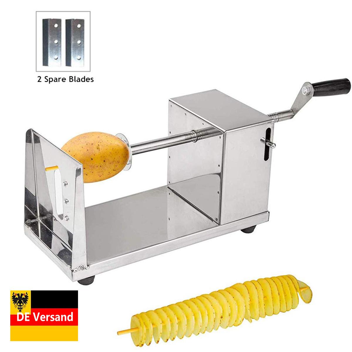 Edelstahl Kartoffelschneider Spiralschneider Chips Slicer Twister für Gemüse
