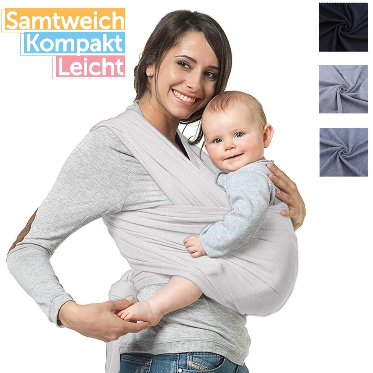 5M Tragetuch Babytragetuch Bauchtrage Babytrage Baby Kinder bis 20kg Baumwolle