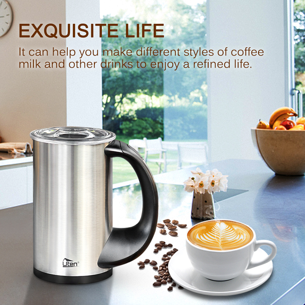 edelstahl milchaufsch umer milchsch umer cappucciono latte macchiato ger uscharm ebay. Black Bedroom Furniture Sets. Home Design Ideas