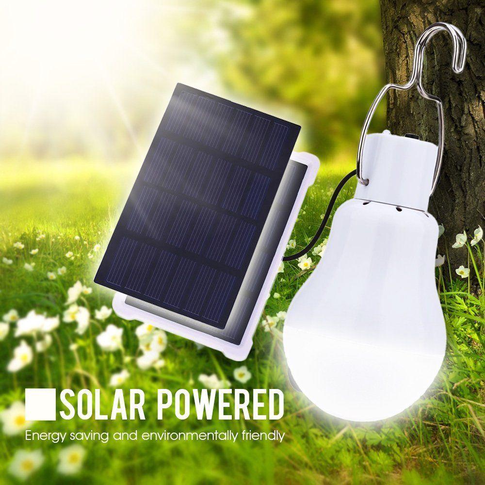 15w led solar gl hbirne solarleuchte gartenleuchte kugelleuchte campinglampe de ebay. Black Bedroom Furniture Sets. Home Design Ideas