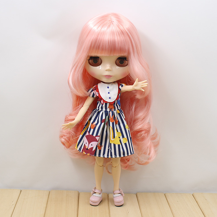 Nude Blyth Doll joint body Mixed hair fashion doll factory