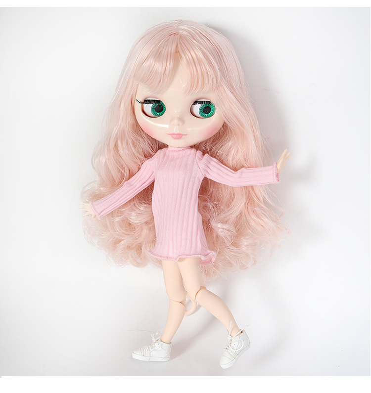 ICY Nude Blyth doll No.BL9103/0362 Brown mix Wine Red