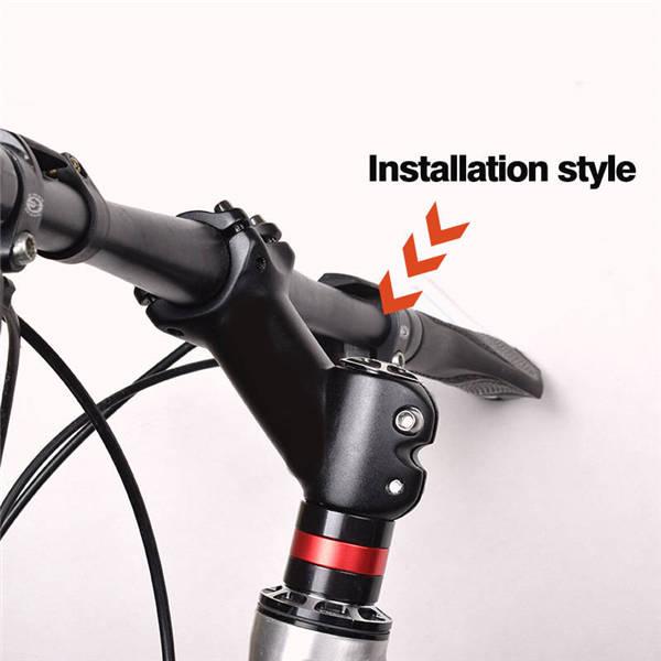 Ultra light Bike Handlebar Stems Riser Mountain Road Bike ± 45 ° Black 31.8mm