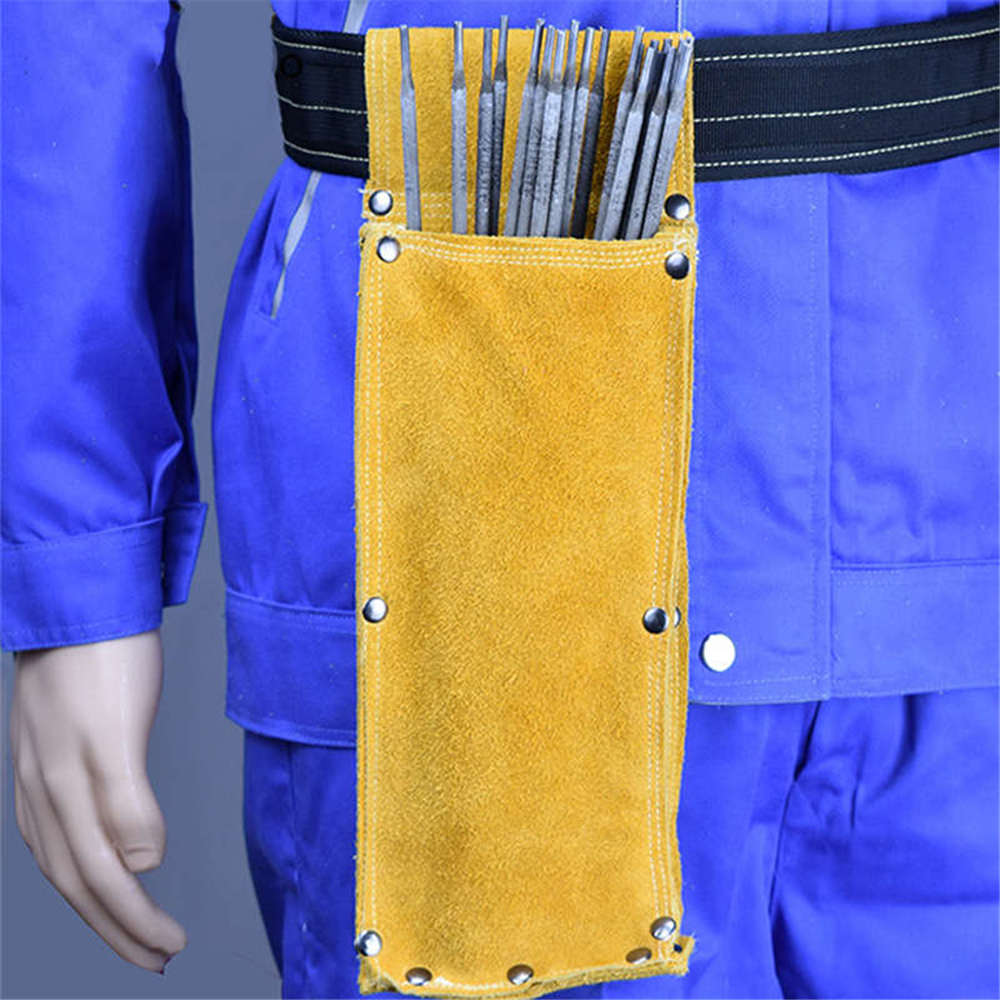 GLOVES CASTLE WS-512 Welding Electrode Rod Holder Split Leather Bag