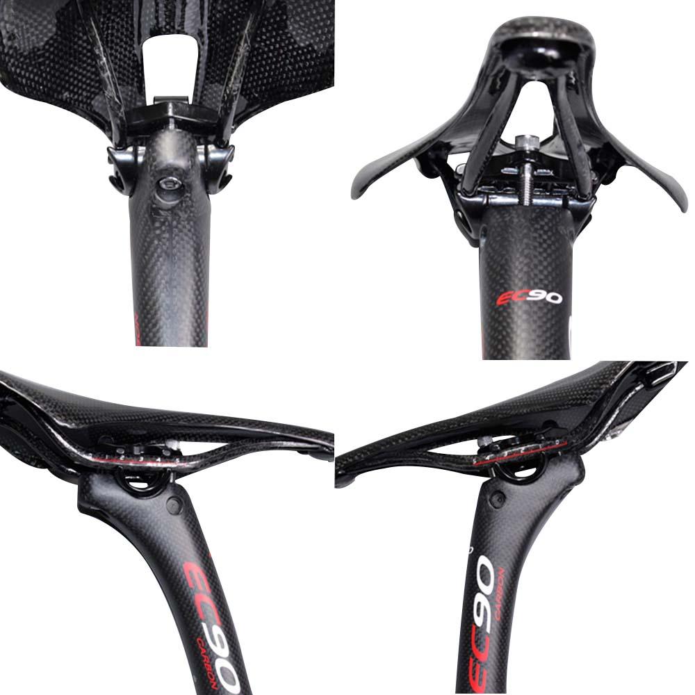 EC90 Full Carbone MTB vélo tige de selle vtt Seat Tube 31.6 30.8 27.2 350mm noir