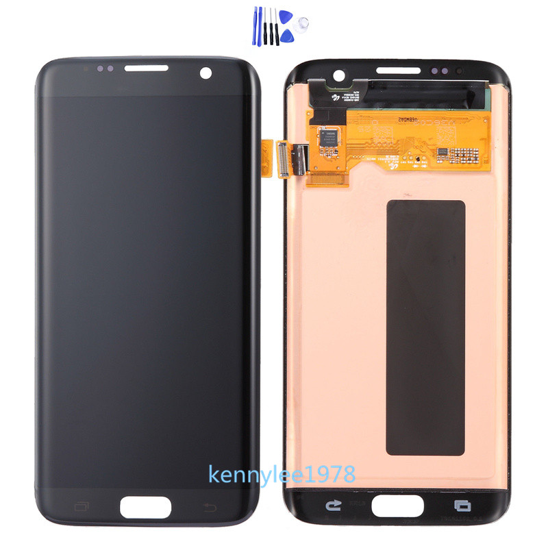 touch glass lcd screen on chassis for samsung galaxy s7 edge sm g935f cover ebay