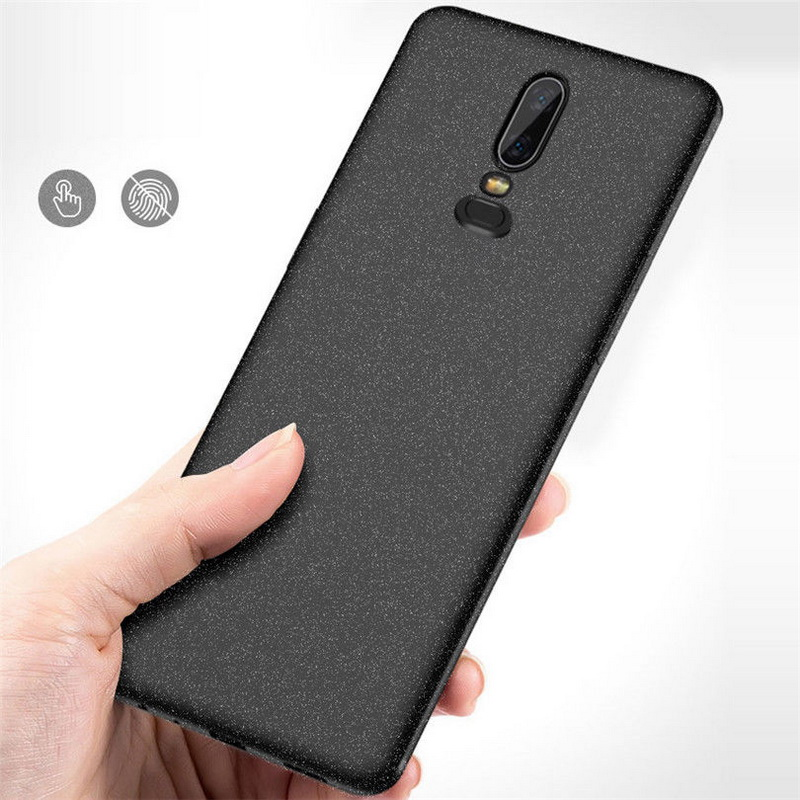 new product c93e8 6d329 Details about Shockproof Silicone Slim Soft TPU Back Sandstone Case Cover  For OnePlus 6 3T 5T