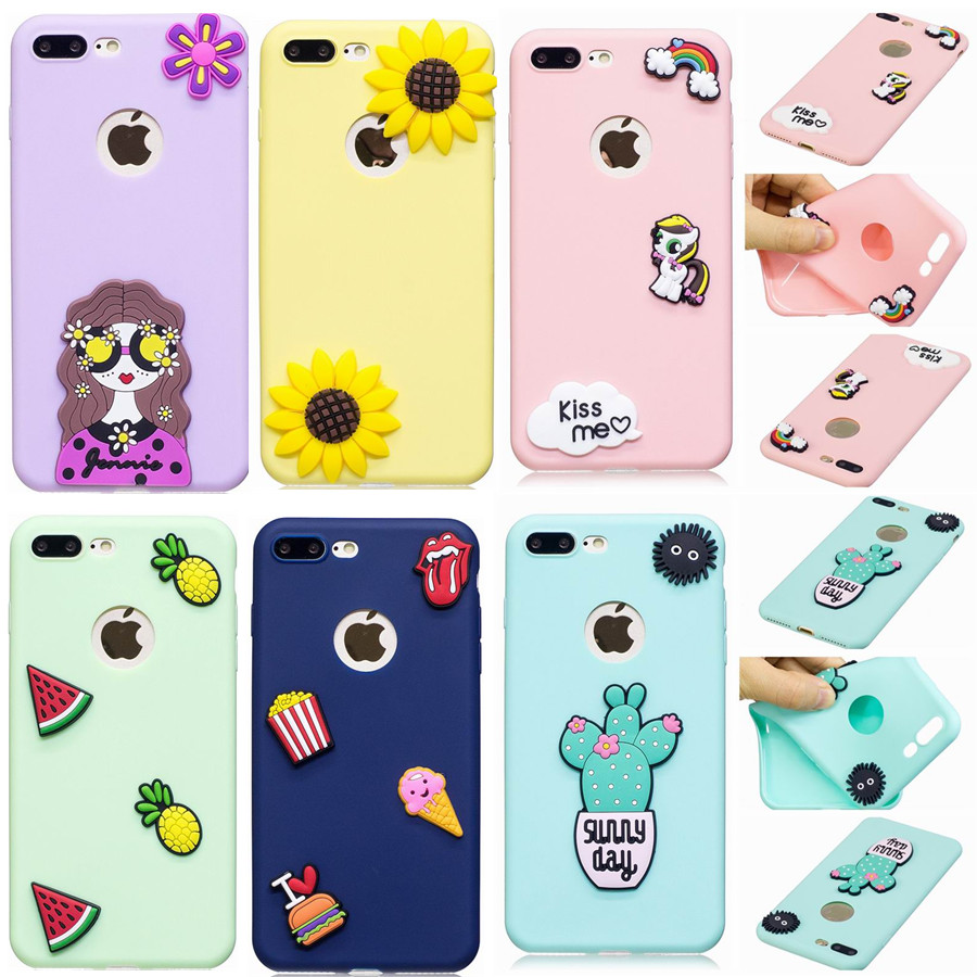 buy popular a66ef 6faf9 Details about 3D Cartoon Hot Cute Kawaii Food Silicone Phone Case Cover  Back For iPhone X 8 7