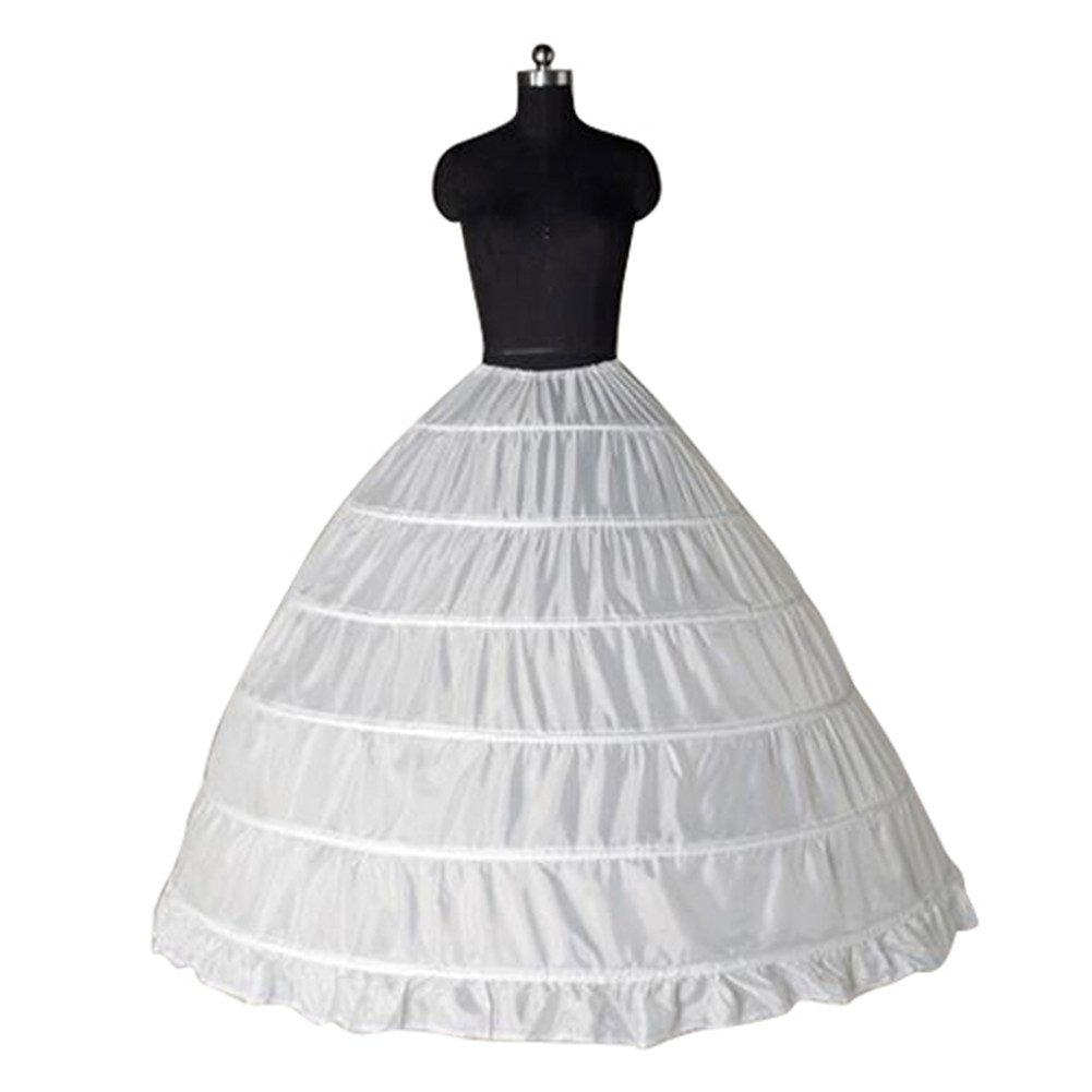 6 Hoop White Ball Gown Petticoats Wedding Dress Underskirt Dress ...