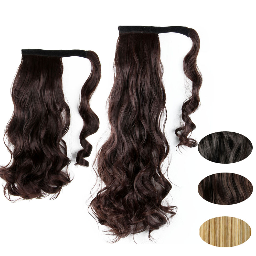 Clip In Hair Extensions Deluxe Thick Long Ponytail Wrap Around Pony