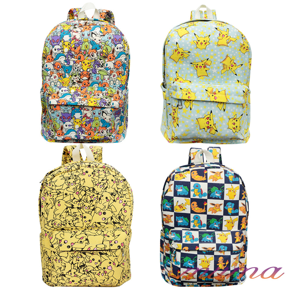 Pikachu Backpack Pokemon Go Shoulder Bag Rucksack Travel School Luggage Tag College Gift Uk