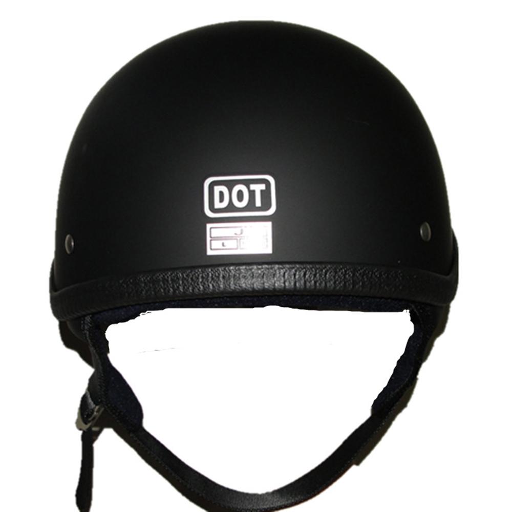 DOT Motorcycle Motorbike Half Helmet Skull Cap for Scooter Chopper Bobber M//L//XL