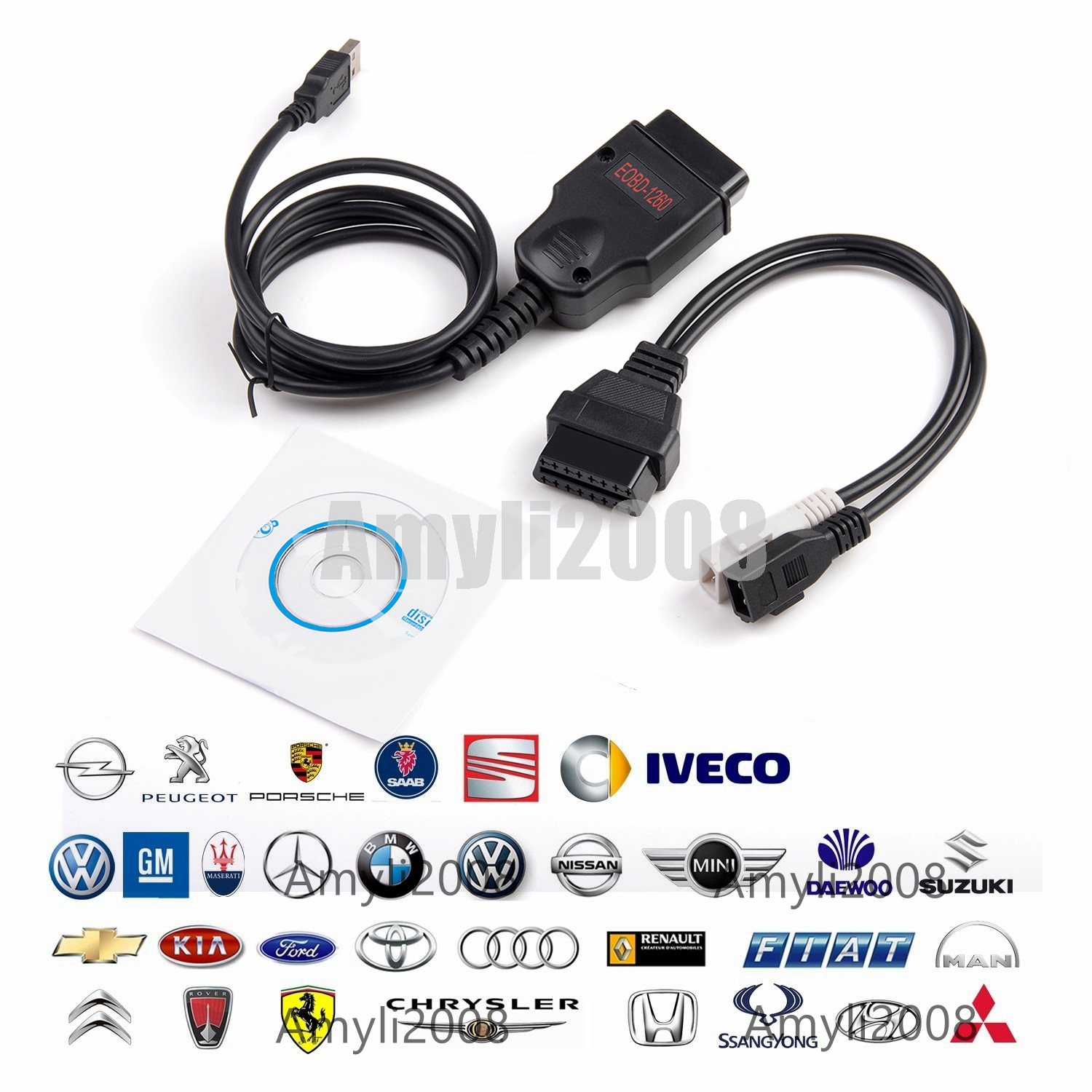 Ecu tuning other diagnostic service tools ebay odb2 galletto eobd 1260 ecu tuning diagnostic programmer remap flasher vag cable fandeluxe Gallery