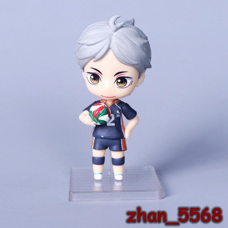 Hinata Shoyo kageyama tobio Libero Mini Figure NO BOX 6pcs//set Haikyuu!