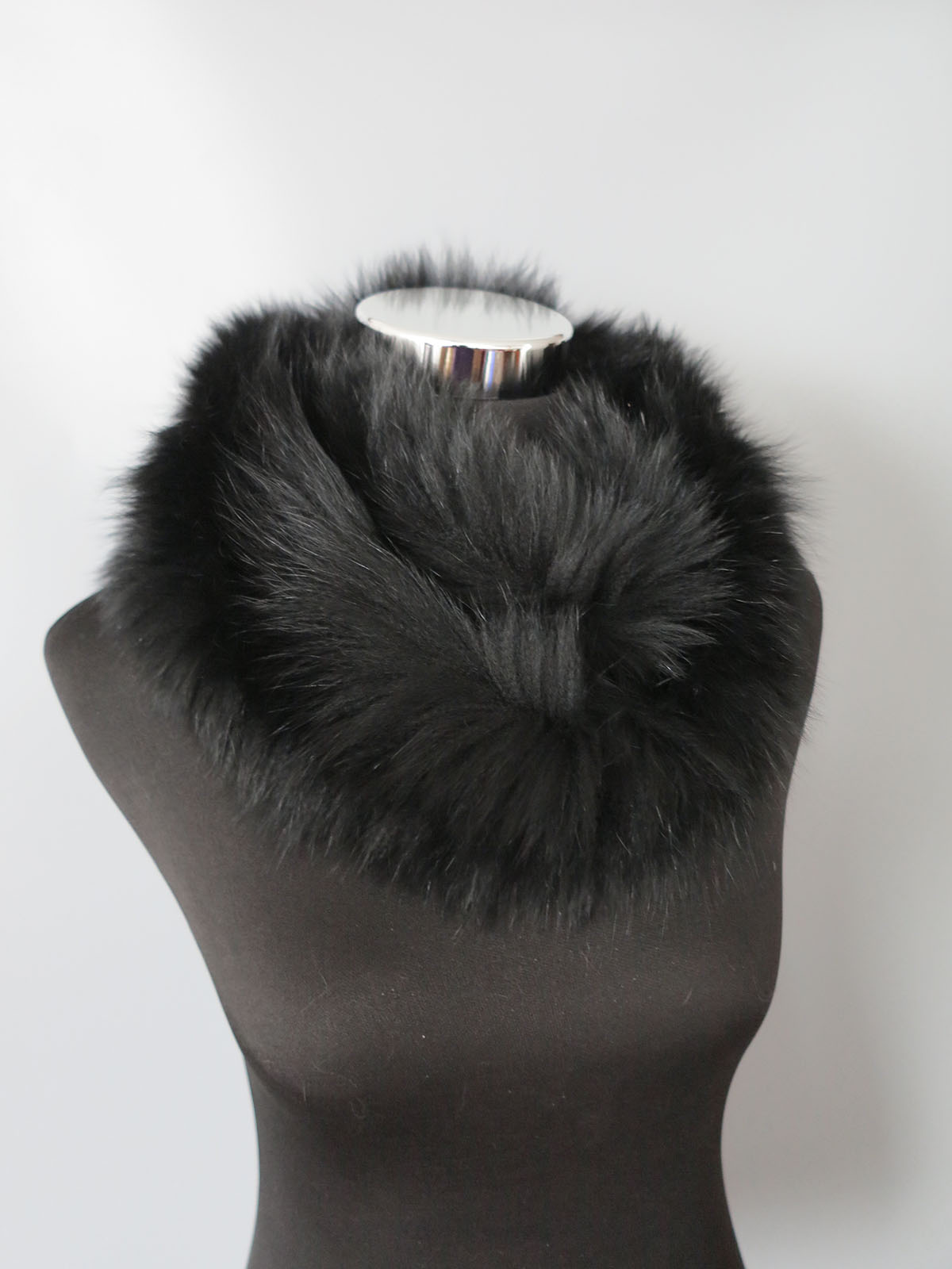Braid Genuine Fox fur scarf circle scarves /wrap/ colla