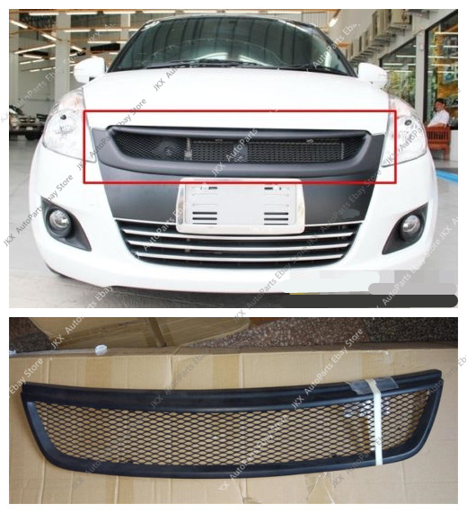 Carbon Fiber Front Bumper Upper Middle Grille Modified For