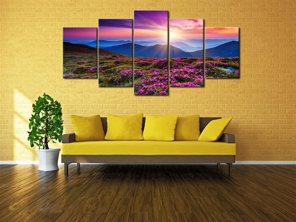 Extra Large Canvas Print Painting Pic Photo Wall Art Home Dec Floral ...