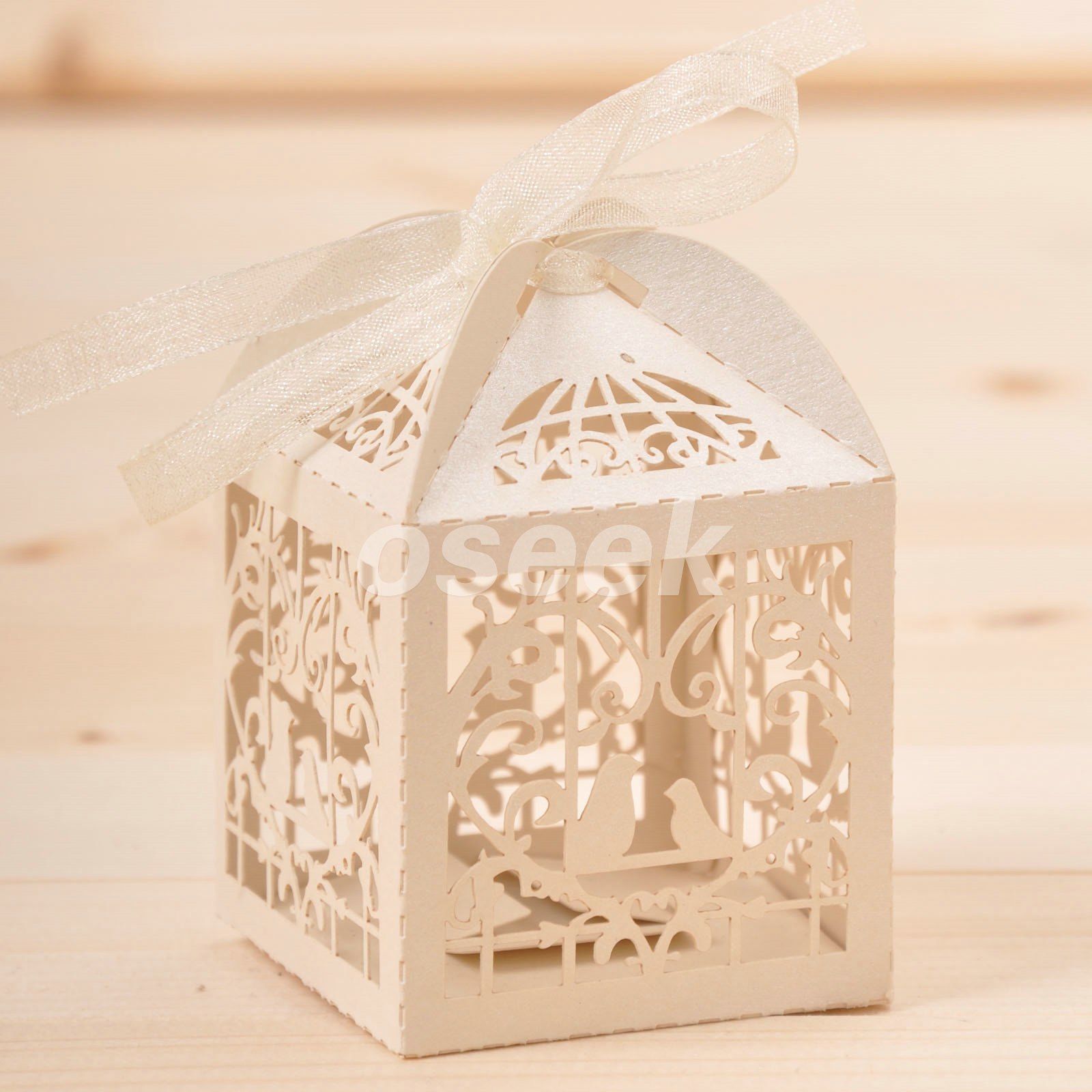 20  100 Candy Boxes Laser Cut Bird Cage Gift