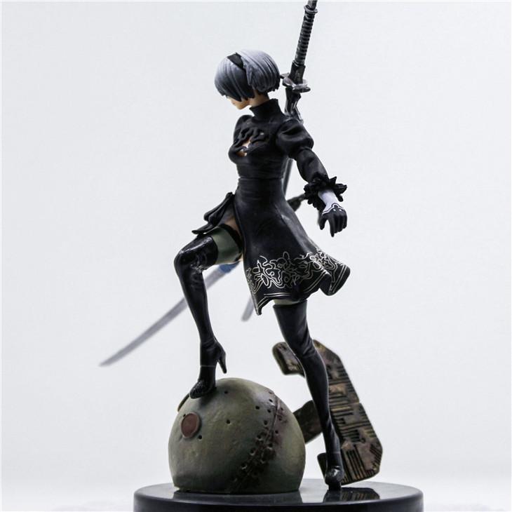 NieR:Automata YoRHa No.2 Type B 2B 16cm Action Figure Figuras Statues Giocattoli