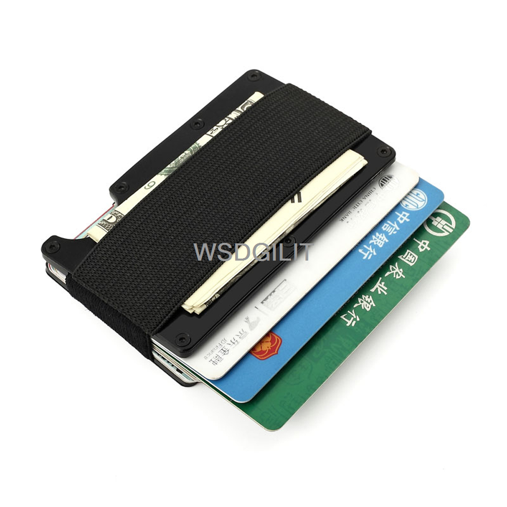 Slim Aluminium Credit Business Card Holder NFC Anti Scan Metal ...